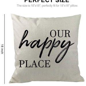 Our Happy Place - Soft Cotton Pillow CASE
